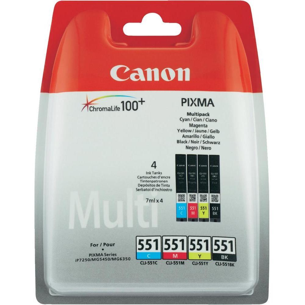 Canon CLI-551 - C/M/Y/BK Multipack