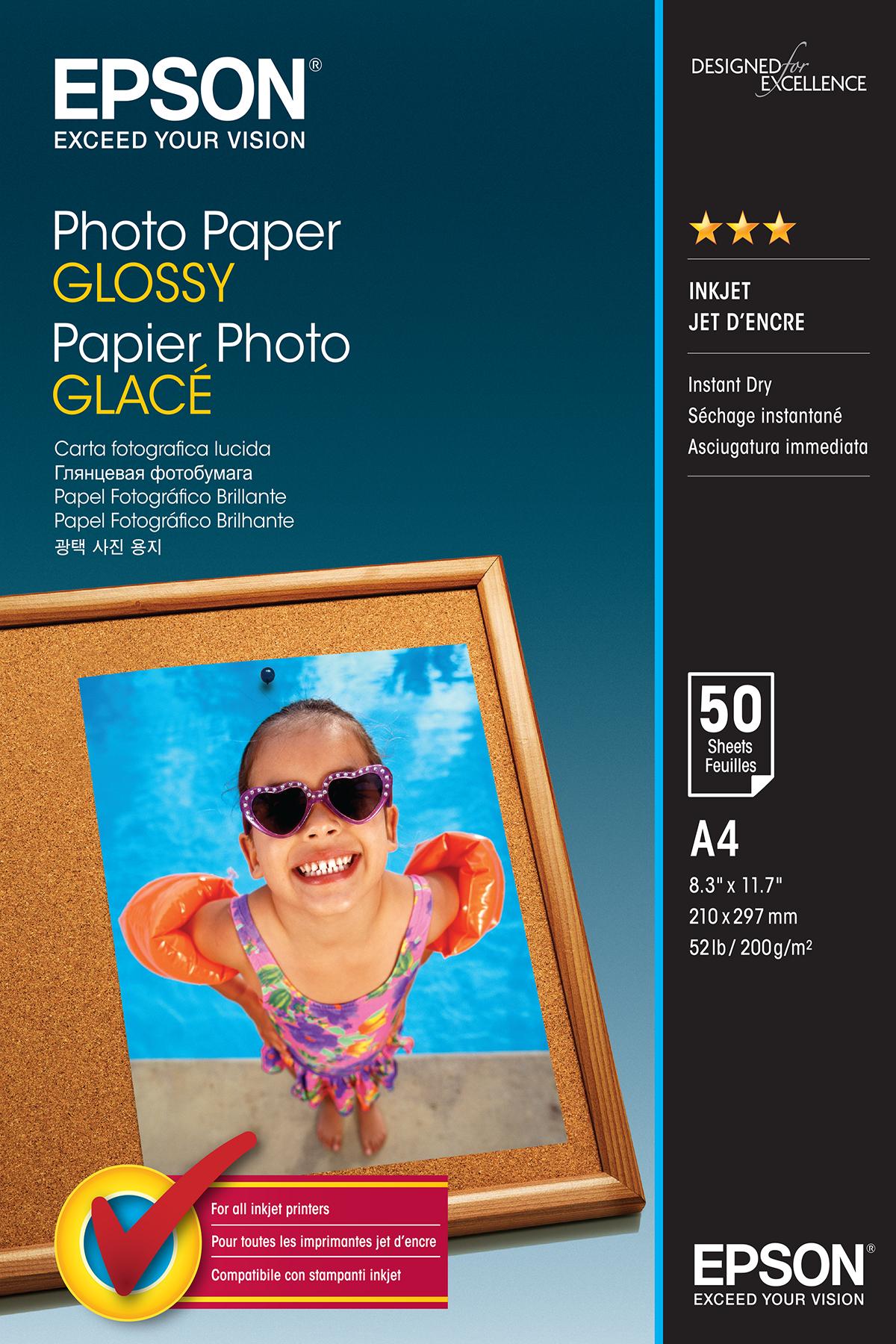 Epson Photo Papier Glans A 4 50 Vel 200 g