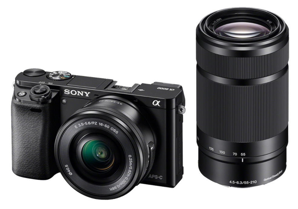 Sony A6000YB + 16-50 + 55-210 zwart