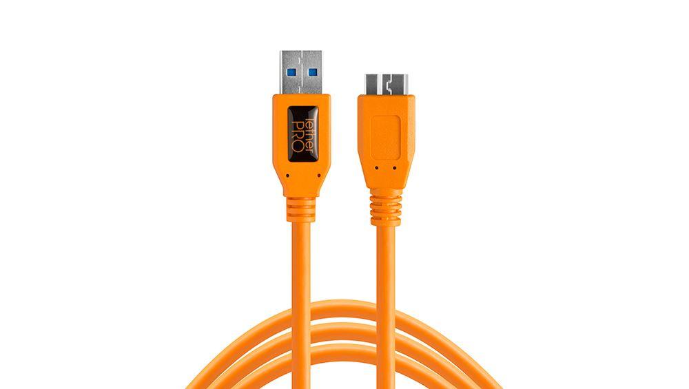 Tether Tools TetherPro USB 3.0 A/Micro B 4,6m oranje