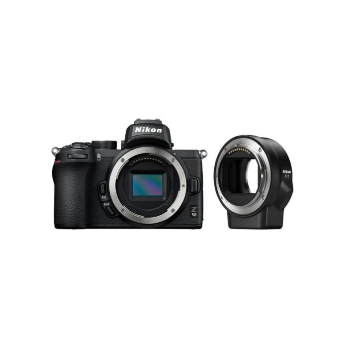 Nikon Z50 + FTZ mountadapter