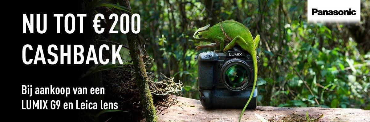 Panasonic Lumix G9 Leica cashback verdubbelaar